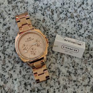 COACH 40mm Rose-Gold Watch